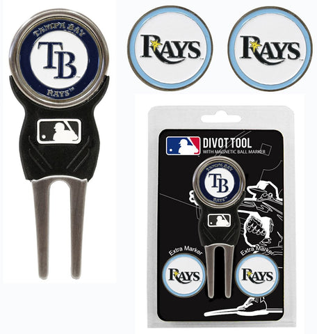 Tampa Bay Rays Golf Divot Tool with 3 Markers