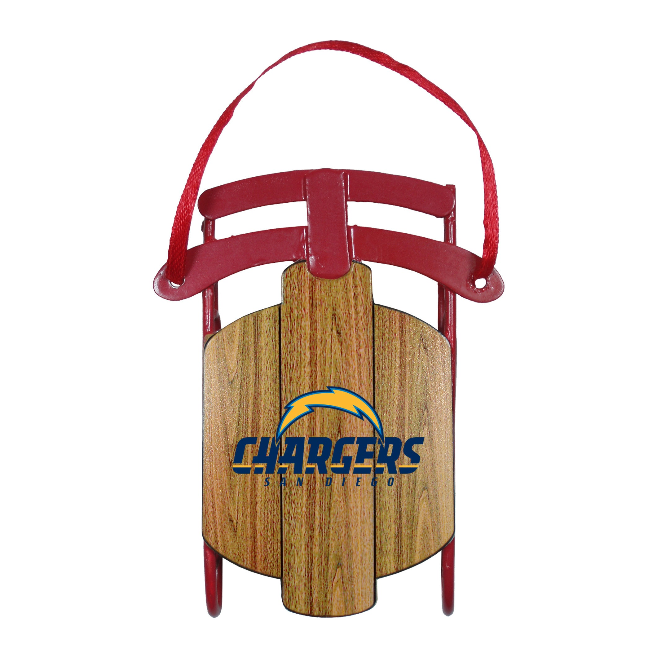 Los Angeles Chargers Metal Sled Ornament