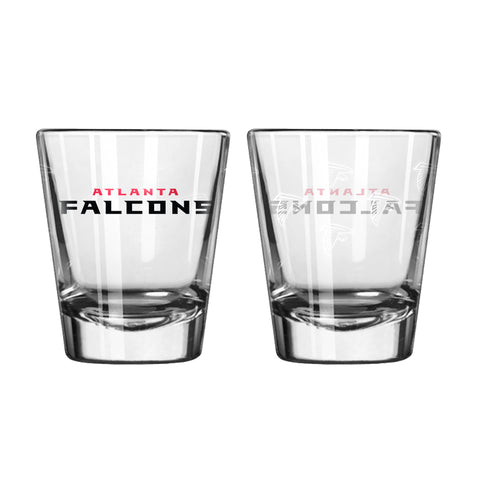 Atlanta Falcons Shot Glass - 2 Pack Satin Etch