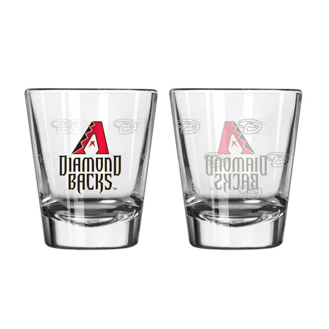 Arizona Diamondbacks Shot Glass - 2 Pack Satin Etch
