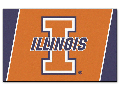 Illinois Fighting Illini Area Rug - 5'x8'