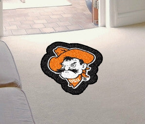 Oklahoma State Cowboys Area Rug - Mascot Style