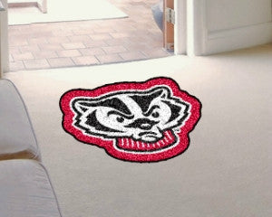 Wisconsin Badgers Area Rug - Mascot Style