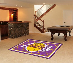 Los Angeles Lakers Area Rug - 5'x8'