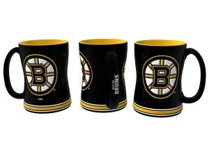 Boston Bruins Sculpted Relief Coffee Mug 14oz