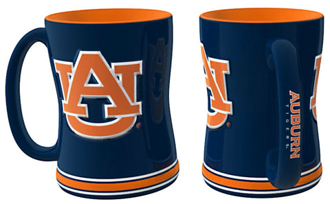 Auburn Tigers Sculpted Relief Coffee Mug 14oz