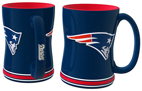 New England Patriots Sculpted Relief Coffee Mug 14oz