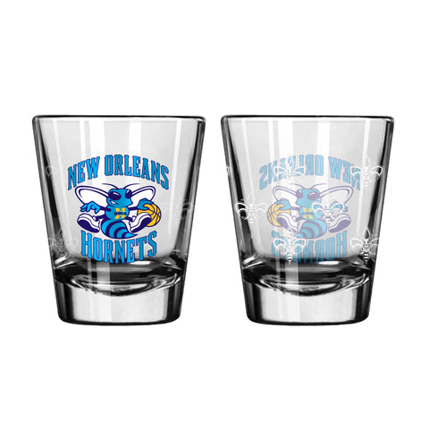 Charlotte Hornets Shot Glass - 2 Pack Satin Etch