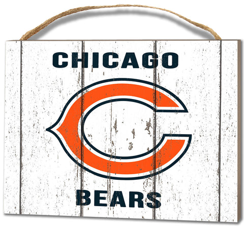 Chicago Bears Small Plaque - Weathered Logo