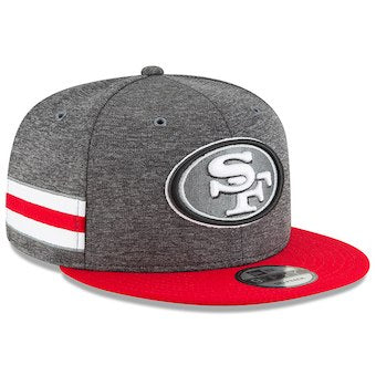 San Francisco 49ers Grey New Era 2018 Sideline Official Home Graphite 9FIFTY Snapback Cap