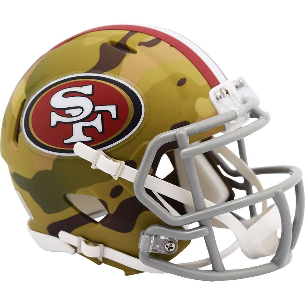 San Francisco 49ers 2020 Camo Speed Mini Helmet Sports Addict