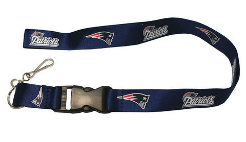 New England Patriots Lanyard - Breakaway with Key Ring