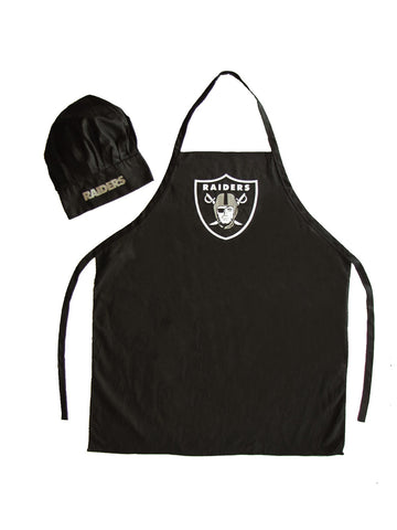 Oakland Raiders Apron and Chef Hat Set