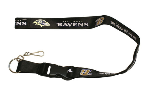 Baltimore Ravens Lanyard - Breakaway with Key Ring - Black