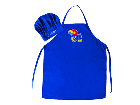 Kansas Jayhawks Apron and Chef Hat Set