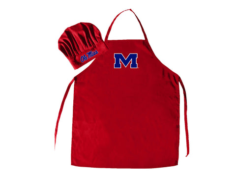 Mississippi Rebels Apron and Chef Hat Set