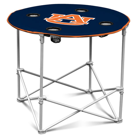 Auburn Tigers Round Tailgate Table