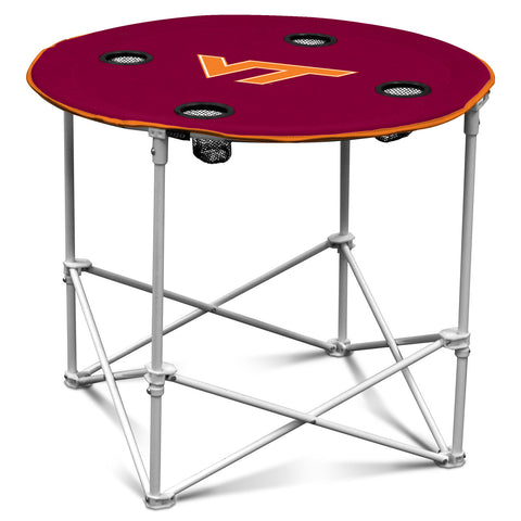 Virginia Tech Hokies Round Tailgate Table