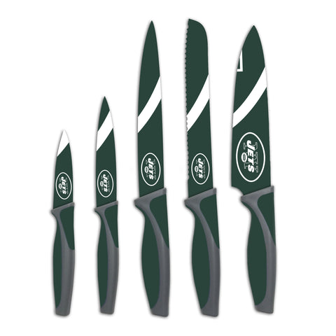 New York Jets 5 Pack Kitchen Knife Set