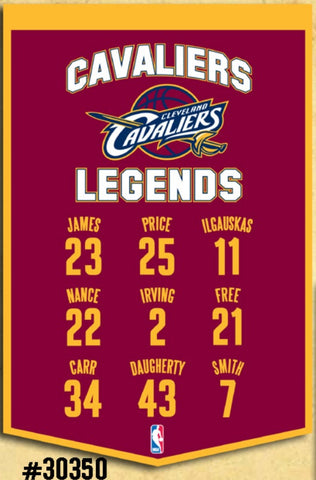 Cleveland Cavaliers Banner 14x22 Legends