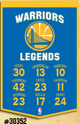 Golden State Warriors Banner 14x22 Legends