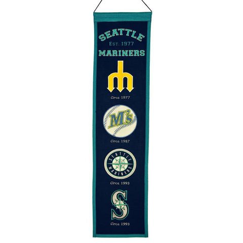 Seattle Mariners Banner 8x32 Wool Heritage