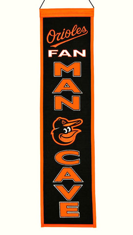 Baltimore Orioles Wool Man Cave Banner