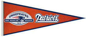 New England Patriots Perfect Season Commemorative Pennant