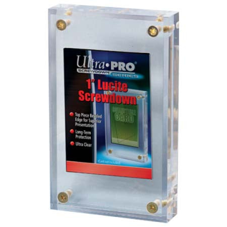 "Ultra Pro Lucite Deluxe 1"" Card Holder"