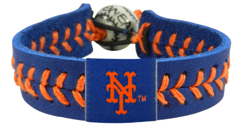 New York Mets Baseball Bracelet - Team Color Style