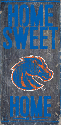 Boise State Broncos Wood Sign - Home Sweet Home 6x12