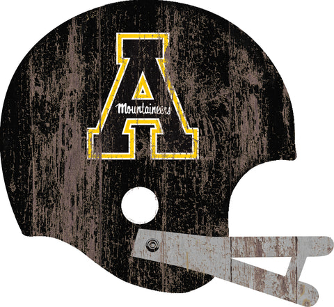 Appalachian State Mountaineers Large Wood Helmet Sign