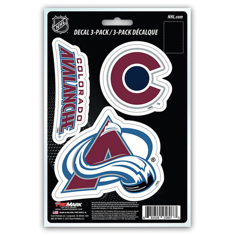 Colorado Avalanche Die Cut Team Decals 3pk