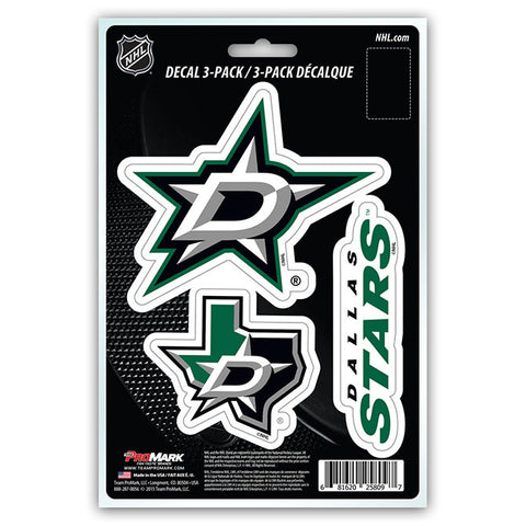 Dallas Stars Die Cut Team Decals 3pk