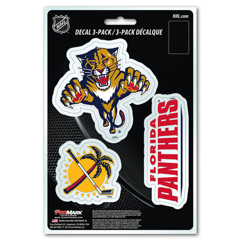 Florida Panthers Die Cut Team Decals 3pk