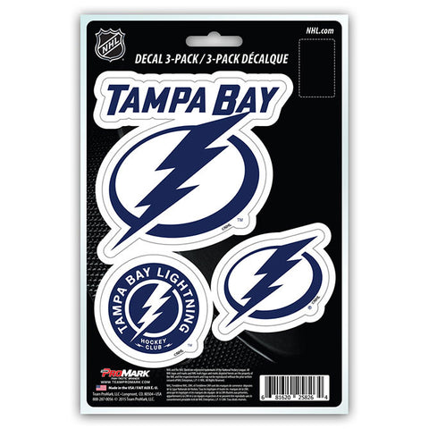 Tampa Bay Lightning Die Cut Team Decals 3pk