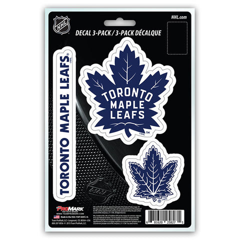 Toronto Maple Leafs Die Cut Team Decals 3pk