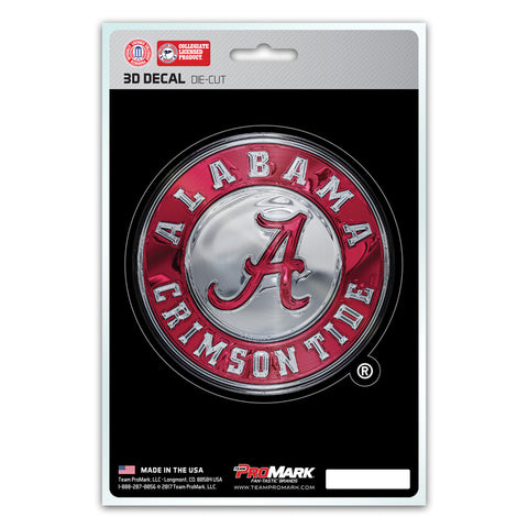 Alabama Crimson Tide Die Cut 3D Logo Design Decal 5x8""