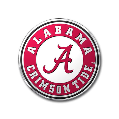 Alabama Crimson Tide Color Auto Emblem