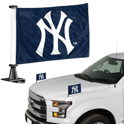 New York Yankees Ambassador Style 2 Piece Flag Set