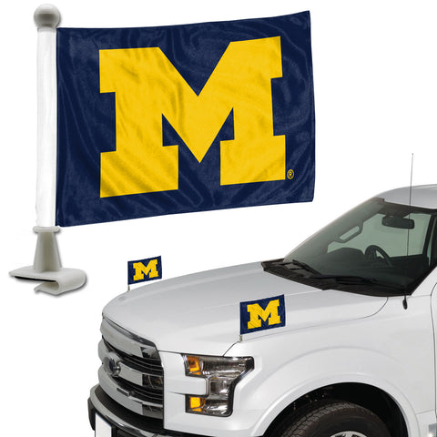 Michigan Wolverines Ambassador Style 2 Piece Flag Set