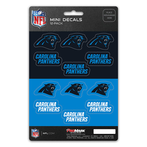 Carolina Panthers 12 Pack Decal Set