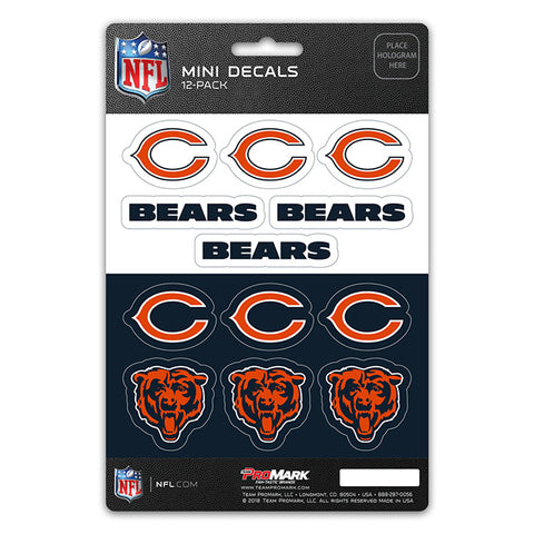 Chicago Bears 12 Pack Decal Set