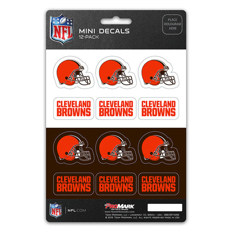 Cleveland Browns 12 Pack Decal Set