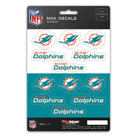 Miami Dolphins 12 Pack Decal Set
