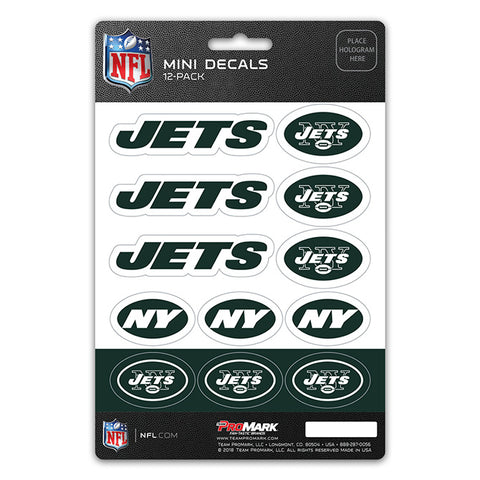 New York Jets 12 Pack Decal Set