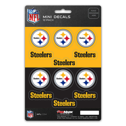 Pittsburgh Steelers 12 Pack Decal Set