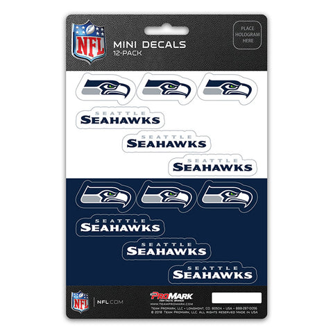 Seattle Seahawks 12 Pack Decal Set