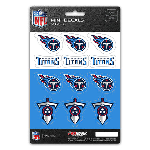 Tennessee Titans 12 Pack Decal Set