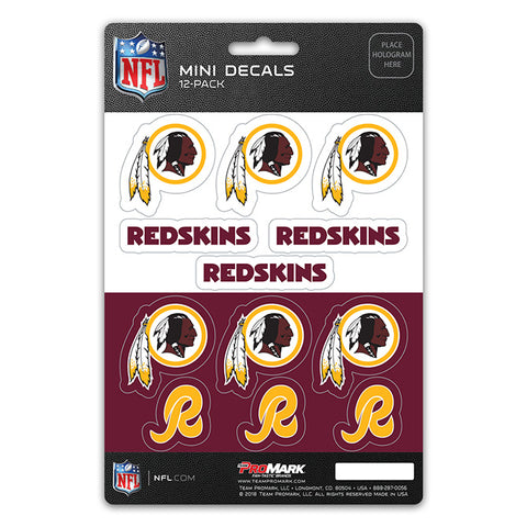 Washington Redskins 12 Pack Decal Set